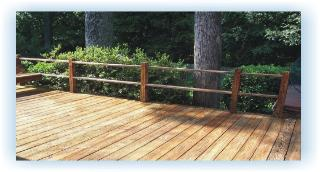 Deck cleaned, sealed and protected