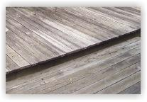 Dirty deck before